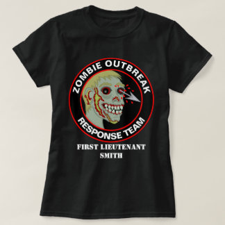 Zombie Outbreak Response Team Funny Add A Name T-Shirt