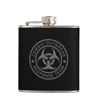 Zombie Outbreak Response Team Hip Flask