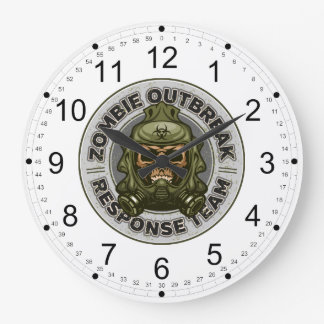 Zombie Outbreak Response Team Large Clock