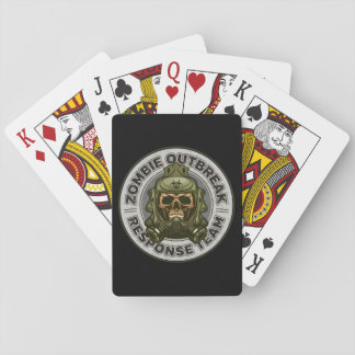 Zombie Outbreak Response Team Playing Cards