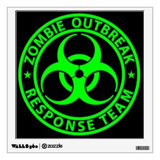 Zombie Outbreak Response Team Sign Wall Sticker