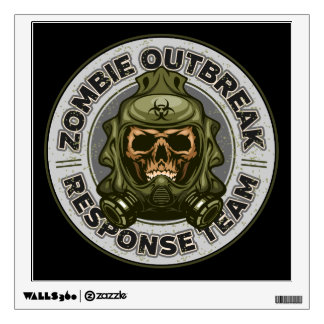 Zombie Outbreak Response Team Wall Sticker