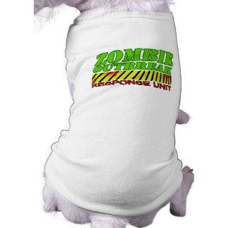 Zombie outbreak response unit pet t shirt