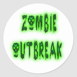 zombie outbreak stickers