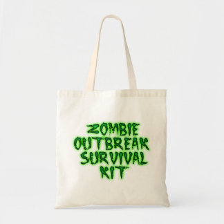 zombie outbreak survival kit tote budget tote bag