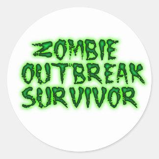 zombie outbreak survivor stickers