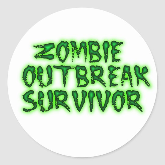 zombie outbreak survivor stickers