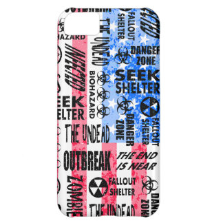Zombie, Outbreak, Undead, Biohazard American Flag iPhone 5C Cover
