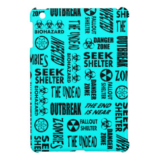 Zombie, Outbreak, Undead, Biohazard Black & Aqua Case For The iPad Mini