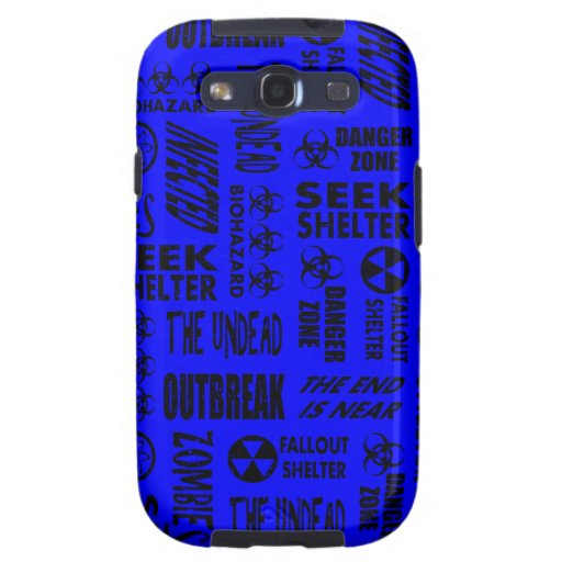 Zombie, Outbreak, Undead, Biohazard Black & Blue Galaxy S3 Cover