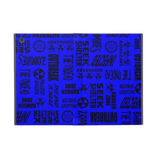 Zombie, Outbreak, Undead, Biohazard Black & Blue iPad Mini Covers