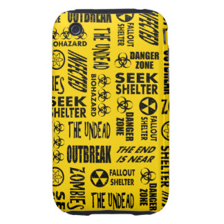 Zombie, Outbreak, Undead, Biohazard Black & Gold Tough iPhone 3 Cover