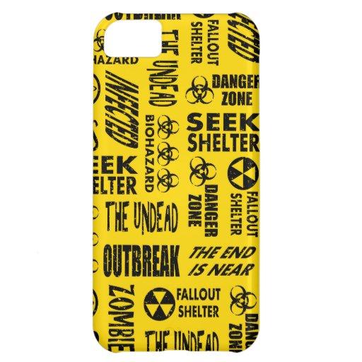Zombie, Outbreak, Undead, Biohazard Black & Gold iPhone 5C Cover