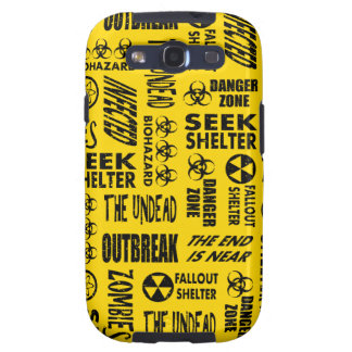 Zombie, Outbreak, Undead, Biohazard Black & Gold Samsung Galaxy S3 Covers