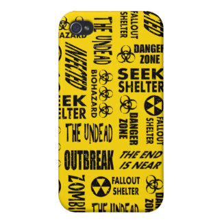 Zombie Outbreak Undead Biohazard Black Gold iPhone 4/4S Covers