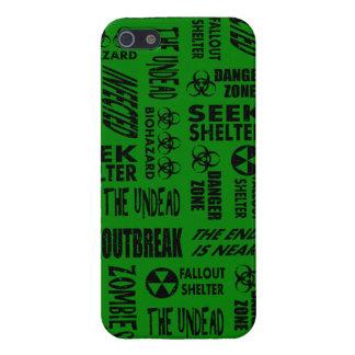 Zombie, Outbreak, Undead, Biohazard Black & Green iPhone 5 Cover