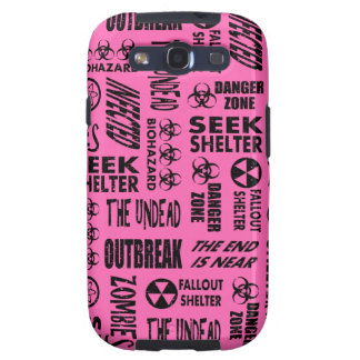 Zombie Outbreak, Undead, Biohazard Black, Hot Pink Galaxy SIII Covers