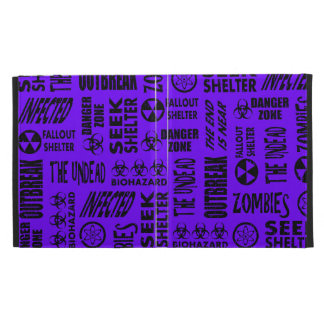 Zombie, Outbreak, Undead, Biohazard Black & Indigo iPad Folio Case