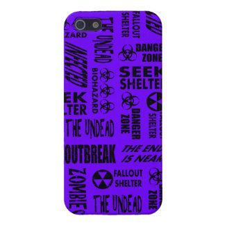 Zombie, Outbreak, Undead, Biohazard Black & Indigo iPhone 5 Cover