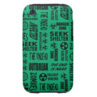 Zombie, Outbreak, Undead, Biohazard Black & Jade iPhone 3 Tough Cover