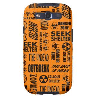 Zombie, Outbreak, Undead, Biohazard Black & Orange Samsung Galaxy S3 Cover