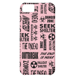 Zombie, Outbreak, Undead, Biohazard Black & Pink Cover For iPhone 5C