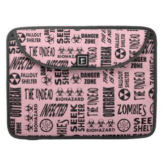 Zombie, Outbreak, Undead, Biohazard Black & Pink MacBook Pro Sleeves
