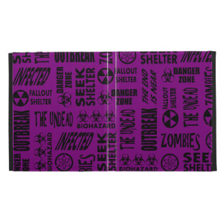 Zombie, Outbreak, Undead, Biohazard Black & Purple iPad Cases