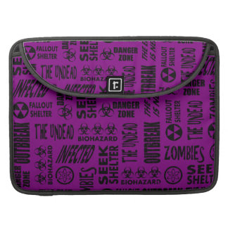 Zombie, Outbreak, Undead, Biohazard Black & Purple Sleeves For MacBooks
