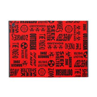 Zombie, Outbreak, Undead, Biohazard Black & Red iPad Mini Cases