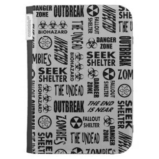 Zombie, Outbreak, Undead, Biohazard Black & Silver Cases For The Kindle