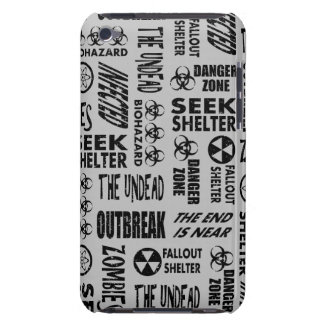 Zombie, Outbreak, Undead, Biohazard Black & Silver Barely There iPod Covers