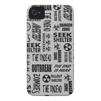 Zombie, Outbreak, Undead, Biohazard Black & Silver Case-Mate iPhone 4 Case