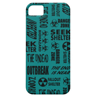 Zombie Outbreak Undead Biohazard Black Teal iPhone 5 Cover