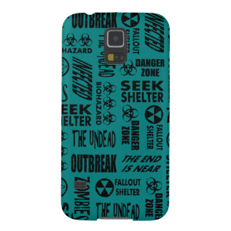 Zombie, Outbreak, Undead, Biohazard Black & Teal Cases For Galaxy S5