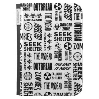 Zombie, Outbreak, Undead, Biohazard Black & White Kindle 3 Case