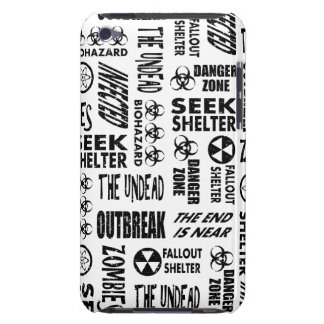 Zombie, Outbreak, Undead, Biohazard Black & White Barely There iPod Cover