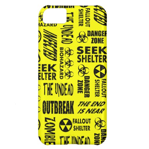 Zombie, Outbreak, Undead, Biohazard Black & Yellow iPhone 5C Cases