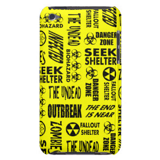 Zombie, Outbreak, Undead, Biohazard Black & Yellow iPod Touch Cover