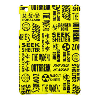 Zombie, Outbreak, Undead, Biohazard Black & Yellow iPad Mini Cases