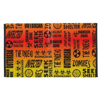 Zombie, Outbreak, Undead, Biohazard Red & Yellow iPad Folio Cover