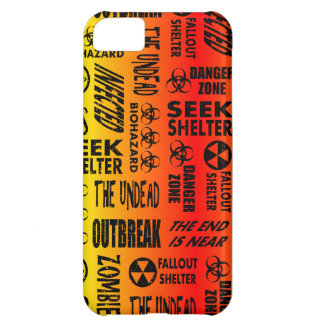 Zombie, Outbreak, Undead, Biohazard Red & Yellow Case For iPhone 5C