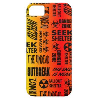 Zombie, Outbreak, Undead, Biohazard Red & Yellow iPhone 5 Case