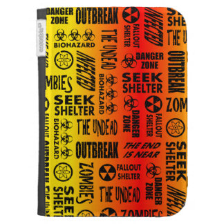 Zombie, Outbreak, Undead, Biohazard Red & Yellow Kindle Covers