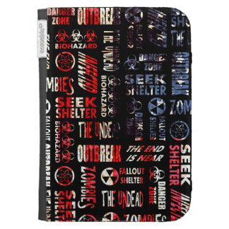 Zombie, Outbreak, Undead, Biohazard U.S.A. Flag Case For The Kindle
