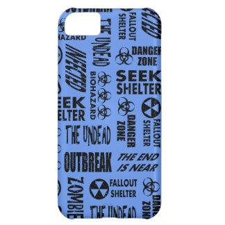Zombie, Outbreak, Undead Black & Cornflower Blue iPhone 5C Cases