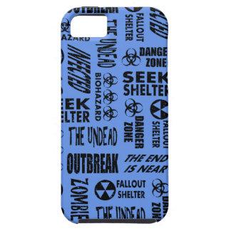 Zombie, Outbreak, Undead Black & Cornflower Blue iPhone 5 Case