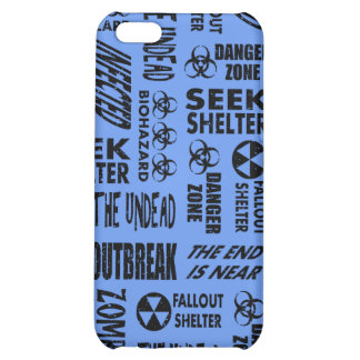 Zombie Outbreak Undead Black Cornflower Blue Case For iPhone 5C