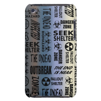 Zombie Outbreak, Undead, Black & Metallic Gradient Barely There iPod Case