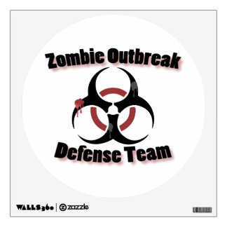 Zombie Outbreak Wall Decal